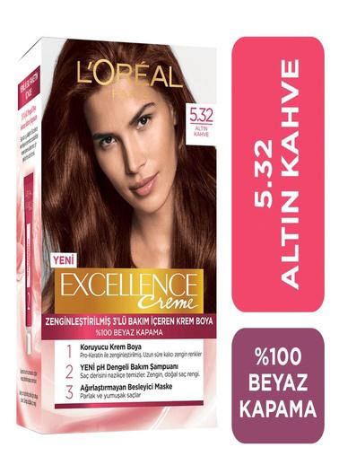 L'Oréal Paris Loreal Excellence Creme Saç Boyası 5.32 Altın Kahve Kahve